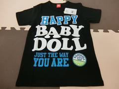 ♪新品 BABYDOLL HAPPYTシャツ ブラック 150�p♪