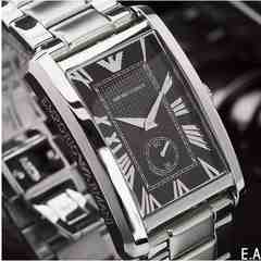 正規品エンポリEMPORIO ARMANI 腕時計AR1608ブラック