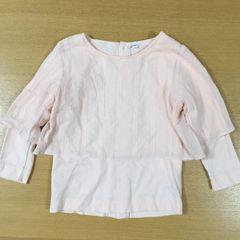 新品同様美品★重ね着風長袖Tシャツ送料205円