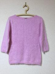☆アンゴラニット*七分袖/ピンク/サイズL☆