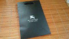 ブラックレーベル ショップ袋・新品