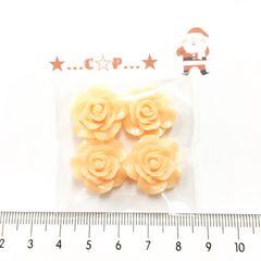 7*�@スタ*オリジナル貼付パーツ*ツヤ薔薇*オレンジ*53