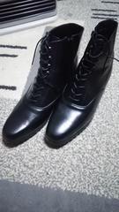 女性用♪ブーツ風の革靴 サイズ24�p1/2