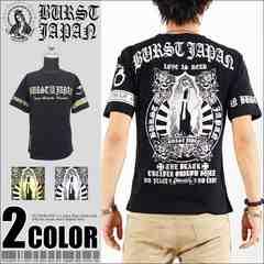 メール便送料無料【MAD BURST】70718Tシャツ黒銀L