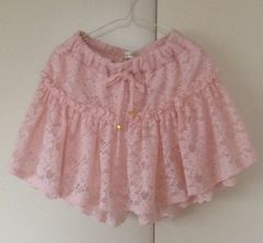 リズメロコラボ♪レースのパンツ付きキュロットスカート☆ピンク