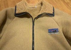 70s パタゴニア  白デカタグ パイルジャケット REI  Wネーム 希少S ンテージ