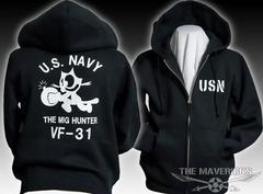 米海軍フェリックス・スウェットパーカー黒白XXL新品/ミリタリー