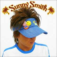 SunnySmith(サニースミス)引地着 缶バッジサンバイザー