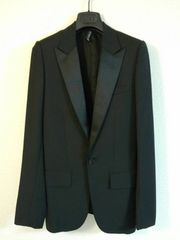 正規新古 激レア Dior Homme ディオールオム スモーキングジャケット 黒 最小38