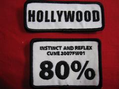 限定CUNE キューン HOLLYWOODと80%ワッペン 2枚セット 未使用