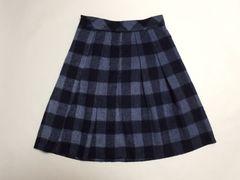 ROPEpicnicブルー大チェック暖かスカート(M)新品