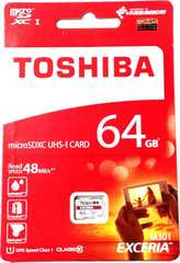 東芝 マイクロSDXCカード(microSD) 64GB クラス10【ノーあだぷた】送料無料