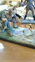 改造ジオラマ ダメージ大猿ベジータVSクリリン 塗装済完成品