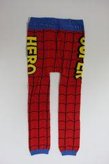 スパイダーマン風柄子供用キッズスパッツ/レギンス90-100スーパーヒーロー