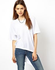 ASOS ディップバックTシャツWH UK6