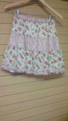 アナスイANNA SUI DOLLY GIRLバラ花柄プリントすそボリュームスカート
