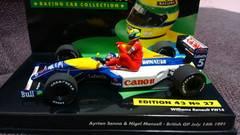 1/43  ウィリアムズルノーFW14 イギリスGP 1991 アイルトンセナ ナイジェルマンセル 新品
