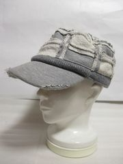 正規品!グレースgrace hats スウェットパッチワークワークキャップ グレー