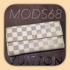 ◆ヴィトン◆USED定番◆ダミエ◆アズール◆サラ◆長財布
