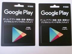 Googleplayギフトカード/グーグルプレイ3000円分☆モバペイ