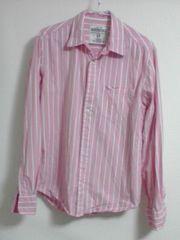 エアロポステール ピンクストライプシャツ