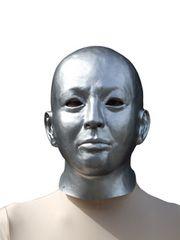 そっくりマスク 銀ぬり パーティーグッズ おもしろマスク