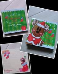 新品Disneylandクリスマスファンタジー2013ジンジャーミッキーメモかわいいブロックメモ