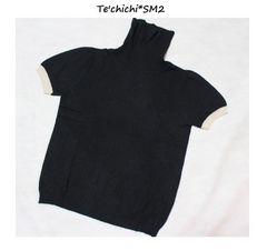 テチチ*Te'chichi*SM2アンゴラ混半袖タートルニット新品クロ