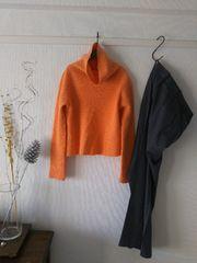 UNTITLEDアンタイトル◆綺麗カラーのショート丈オレンジニット