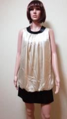 キャバ…デカリボン&光沢バイカラーのドレス☆3点で即落☆