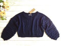 新品 GRL グレイル 紺 ニット セーター
