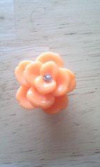 サンダルアクセサリーフラワーオレンジ