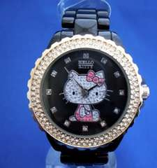 キティーちゃんメタルウォッチBK- hello kitty腕時計