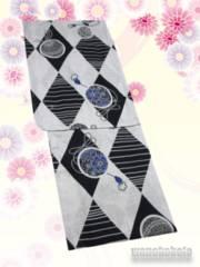 【和の志】女性用綿麻浴衣◇Fサイズ◇銀鼠系・古典柄◇MAF-57