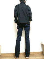 送1円■新品 黒シャツ 長袖Yシャツワイシャツ喪服無地ユニクロ無印似のメンズS最安
