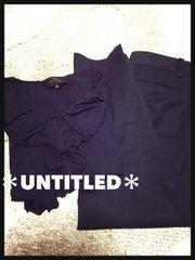 UNTITLED*カットソー&パンツ2点セット