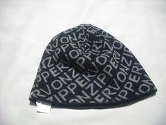 mb326 男 VON ZIPPER ボンジッパー リバーシブル ニット帽 黒