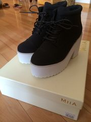 新品★MIIA★厚底靴★サイズ1★ブラック★定価14904円★