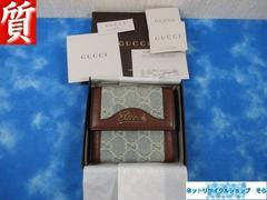 質屋☆本物 グッチ 財布 Wホック GG デニム 超美品