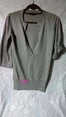 ICB*シルク&カシミヤ混7分袖ニット S