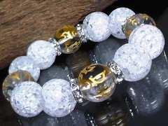 守り本尊十二支梵字水晶§爆裂水晶16�_数珠