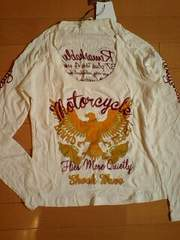 d.i.aダイア刺繍袖ロゴイーグルデカロゴTシャツw