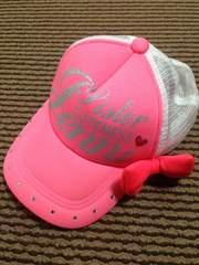 JENNI・リボン付きキャップ帽・ピンク54センチ