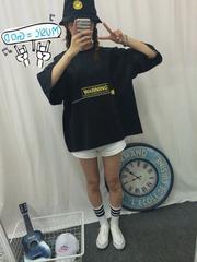 0914-605817大きいサイズ☆WARNINGドルマンTシャツ☆ブラック