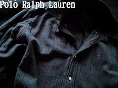 【POLO】ラルフローレン USA製 Vintage フランネルチェックシャツ L/Plaid
