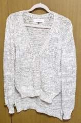 ルッシェルブルーざっくり編み カーディガン サイズF