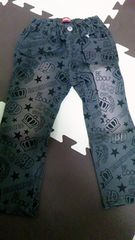 新品同様★BABY DOLL★総柄デニムパンツ★90cm