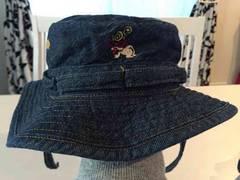 ヒスミニ デニムハット 帽子 48cm