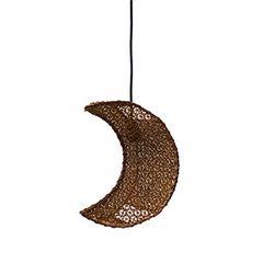 ハンギング月型ランプ シーリングソケット・電球付 天井照明