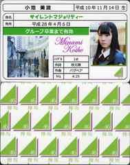 小池美波 サイレントマジョリティー 免許証カード 欅坂46